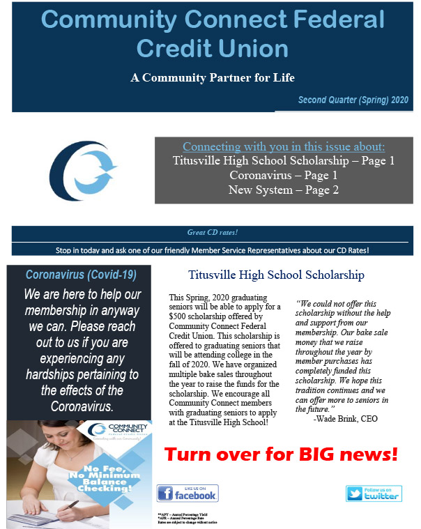 2020 2nd Quarter Newsletter Image